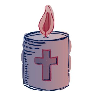 Candle for prayers of hope