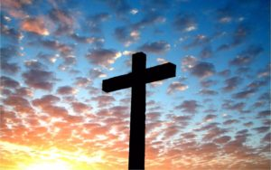 Easter cross and sky