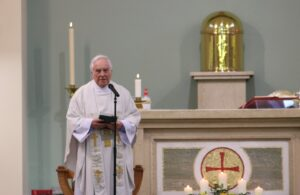 Fr Chris McCurry at St Anns