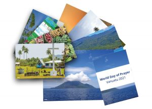A photo of leaflets for the World Day of Prayer 2021