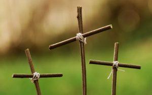 Photo of three small crosses